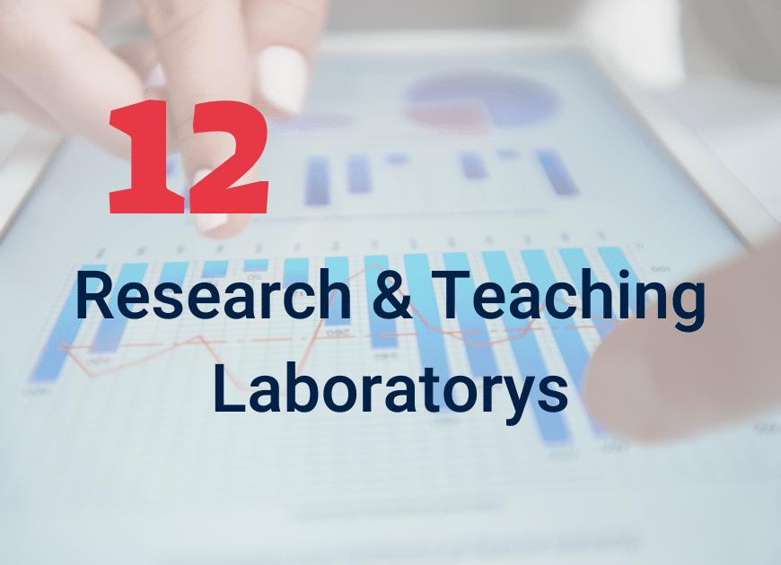 12 Research & Teaching Laboratories